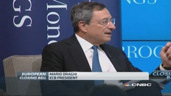 Draghi: This is what makes stimulus work