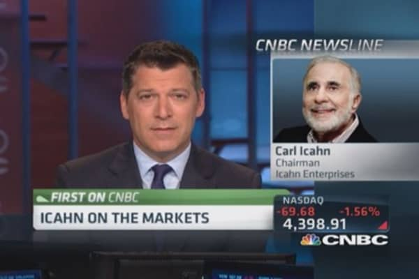 Icahn: Correction 'definitely coming'