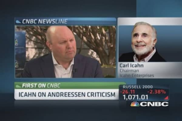 Icahn: Andreessen stole Skype from eBay