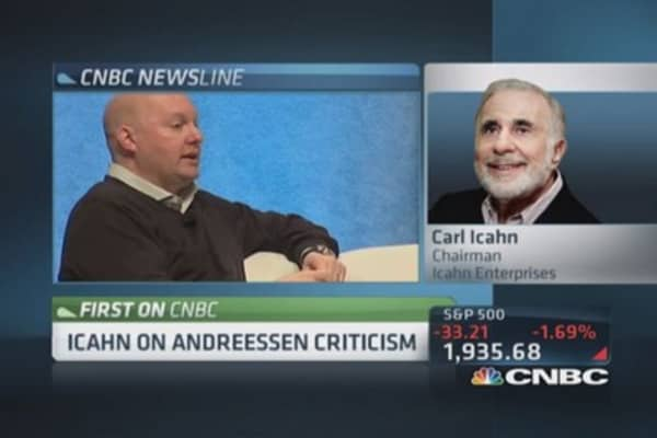 Icahn: Andreessen screwed more people than Casanova