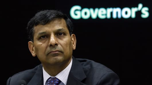 Raghuram Rajan, The Reserve Bank of India (RBI) Governor.