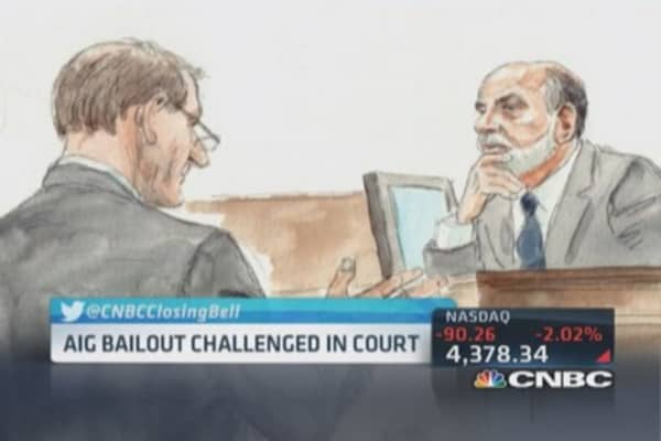 Bernanke testifies in AIG trial