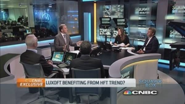 Luxoft benefiting from HFT trend?
