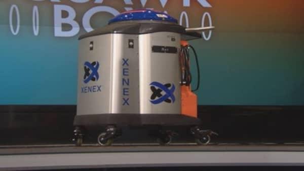 Ebola zapping robot