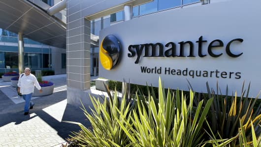 Symantec headquarters in Mountain View, Calif.