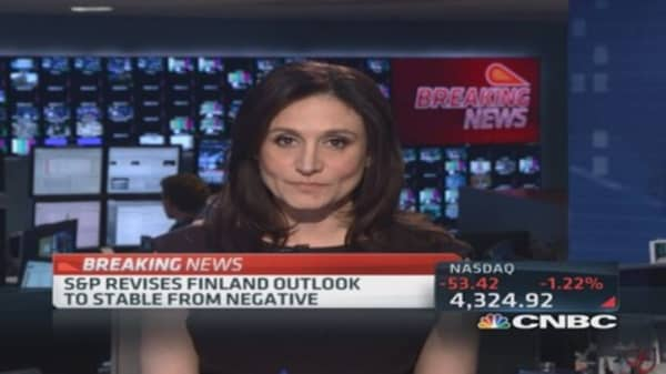 S&P downgrades Finland