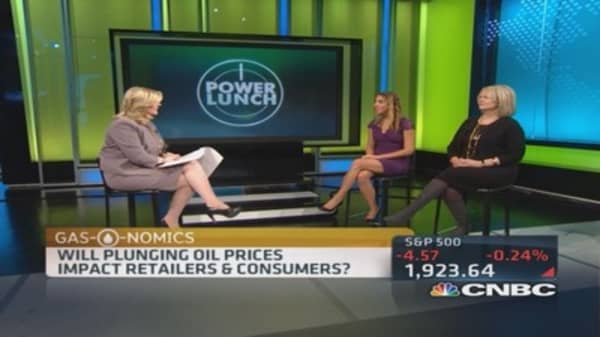 Plunging oil's retail effect