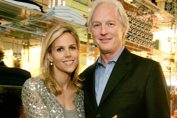 Tory Burch and Chris Burch in 2005