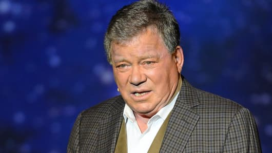 """William Shatner performs his one-man show, """"Shatner's World: We Just Live In It"""" in Las Vegas."""