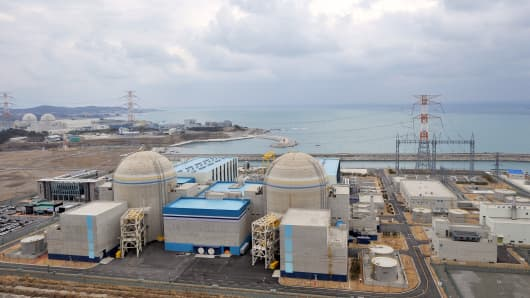South Korea's nuclear power reactor, Shin-Kori 1and 2 called APR-1000, in Gori near the southern port of Busan.