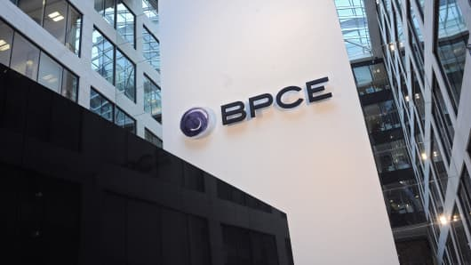 The Groupe BPCE, parent group of Natixis, headquarters are seen in Paris, France.