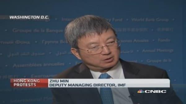 Hong Kong markets still 'functioning': IMF