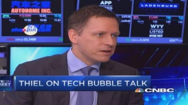 Thiel: Tech stocks not core of insanity