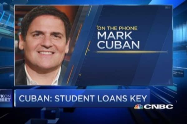 Want to fix economy? Fix student loans: Mark Cuban