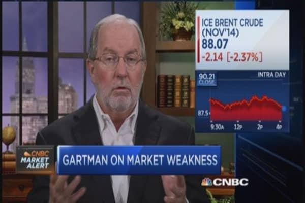 Gartman on sidelines