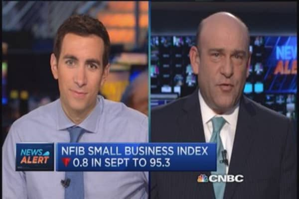 NFIB small biz falls 0.8 to 95.3