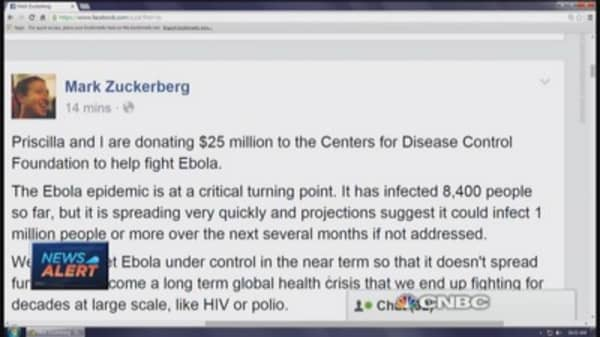 Zuckerberg donates $25 million to CDC