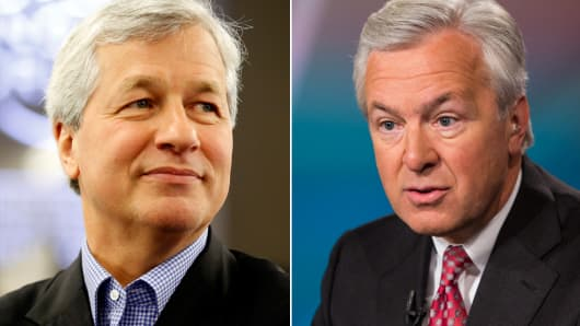 Jamie Dimon and John Stumpf