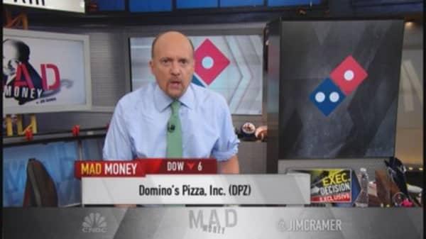 Domino's beats; CEO talks cheese & Dom