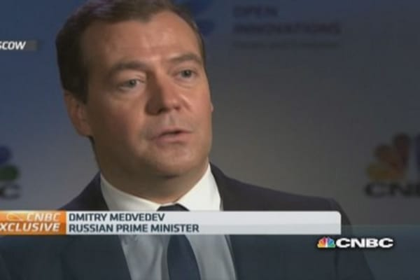 Medvedev to Abbott: Putin 'quite adept at sport'