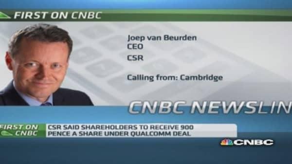 CSR CEO on Qualcomm takeover bid