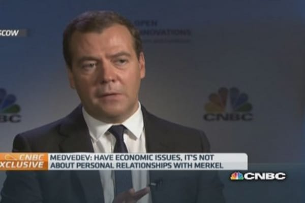 German/Russian relations not damaged yet: Medvedev