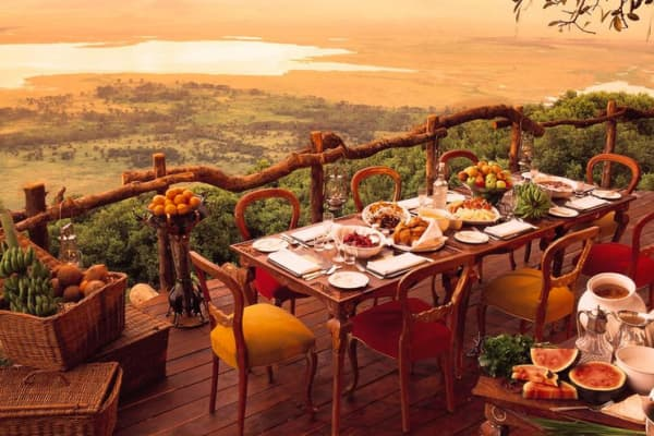 This is how Wall Street roughs it on safari? Ngorongoro Crater Lodge, Tanzania (&Beyond)