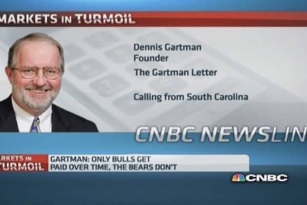 This is just the beginning of bear market: Gartman