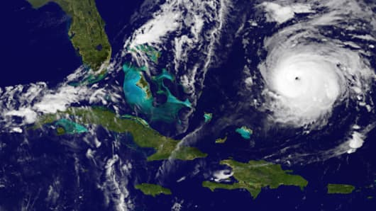 Image of Hurricane Gonzalo, Thursday, 2:00 a.m.
