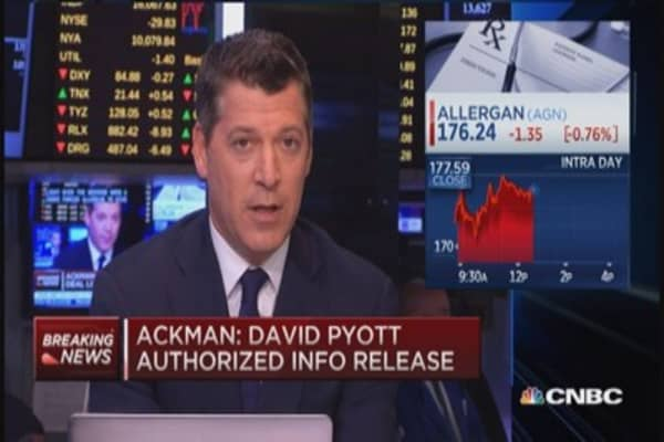 Ackman: Allergan tried to manipulate Valeant stock