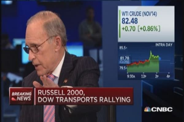 Kudlow: Oil drop unambiguously good