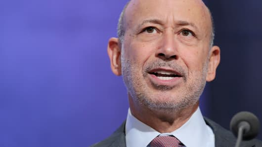 Goldman Sachs CEO Lloyd Blankfein speaks during the Clinton Global Initiative in New York.