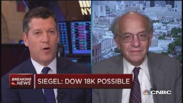 Jeremy Siegel: Dow 18,000 still possible