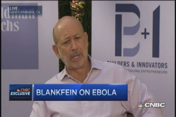 Blankfein: Don't be hyperbolic on Ebola