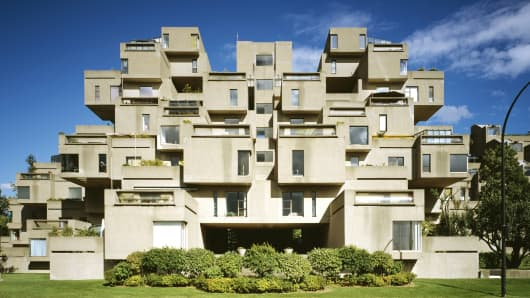 The Habitat '67 project in Montreal.