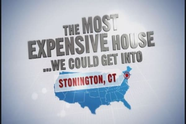 Most expensive house (we could get into): Stonington, CT