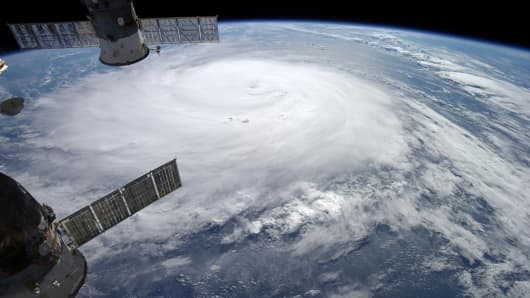 Hurricane Gonzalo is seen over the Atlantic Ocean in this NASA image taken by astronaut Alexander Gerst from the International Space Station October 17, 2014.