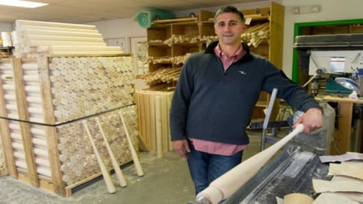 Pete Tucci, of Tucci Lumber, sells maple and ash baseball bats to more than 150 Major League Baseball players out of his 10,000-square-foot space in Norwalk, Connecticut.