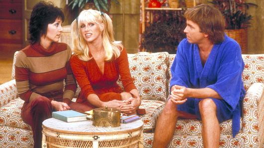 A still of the cast of Three's Company.
