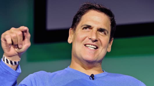 Businessman and TV personality Mark Cuban speaks onstage at TechCrunch Disrupt in San Francisco.