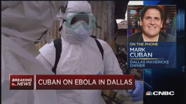 Mavericks owner Cuban calm about Ebola
