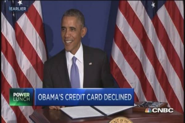 President Obama's credit card rejected
