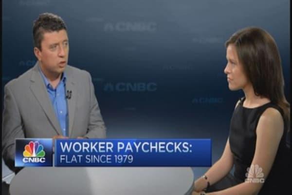 Worker paychecks flat since 1979