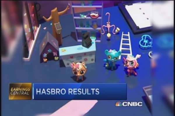 Hasbro posts Q3 profit of $1.46 per share