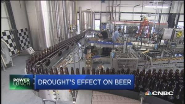 Beer leaves California high & dry