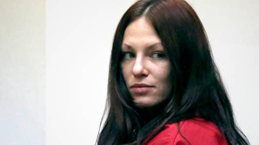 Alix Tichelman after her arraignment in Santa Cruz County Superior Court, July 16, 2014, in Santa Cruz, Calif.