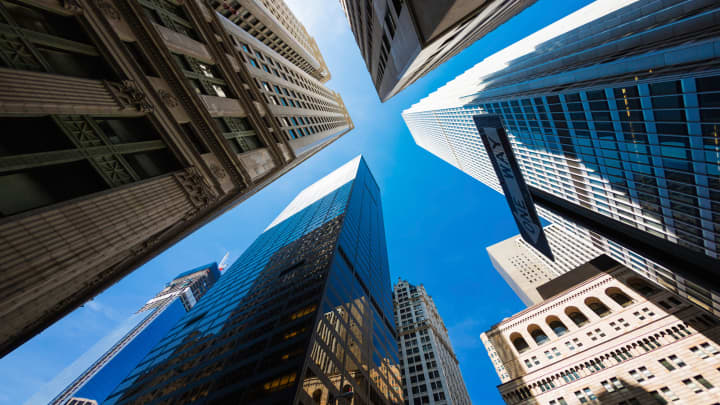 Skyscrapers new york city, office buildings, corporate, corporate america