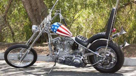 "A ""Captain America"" Chopper from the 1969 film ""Easy Rider""."