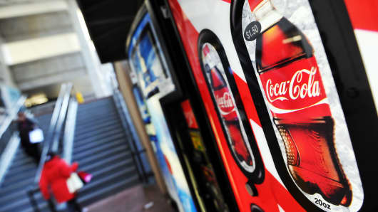 Coca-cola vending machine at school