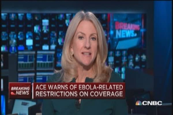 ACE Ltd. warns of Ebola restrictions
